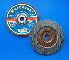 10x Lamellen Schleifscheibe K.40,60,80,120ZK D.125mm gekröpft für Stähle//Metalle