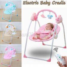 Babywippe Faltbare Elektrisch Babyschaukel Schaukelwippe Babywiege mit bluetooth