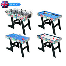 4ft Folding Multi Game Table Kids 4 in 1 Pool Table/Football/Hockey/Table Tennis