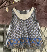 ANTHROPOLOGIE▪️TINY Sleeveless Floral Tank. L Multicolor