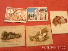 cigarette cards john player dogs, john west sea adventurers, wills old inns x5