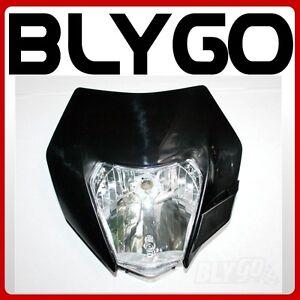 BLACK NEW KTM Style Rec Reg Head Light PIT Trail Dirt Motrocycle Motorcross Bike