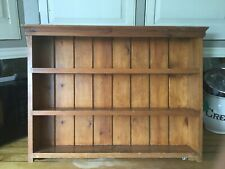 Vintage Shelf Rack wooden wall unit shelving shelves farmhouse 72cm Across