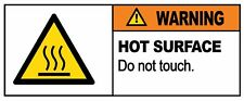 WARNING - HOT SURFACE DO NOT TOUCH - Self Adhesive Label 100mm x 148mm 4ct
