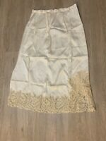 """1940's Fisher Heavenly Silk Lingerie Slip Silk And Lace EXQUISITE 28"""" VINTAGE"""
