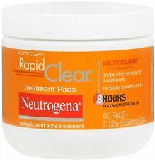 Neutrogena Rapid Clear Acne Face Treatment Pads with Salicylic Acid Oil Free 60
