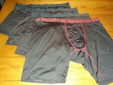 Lot of 4 And1 Men's Performance Underwear - 4 Black Boxer Briefs - Size 3Xlarge