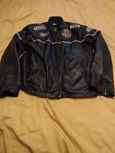No Fear Men's 100% Leather Biker Style Jacket