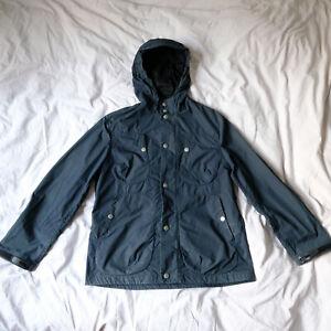 ALBAM  hooded parka / field jacket dark blue, size small..