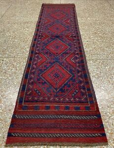 New Afghan Hand Woven Mashwani Wool Kilim Runner Rug 8 x 2 Ft (1737 HMN)