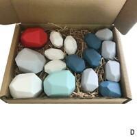 16PCS Tumi Ishi Wood Balancing Stones For Baby Big Montessori Toys size Z0L0