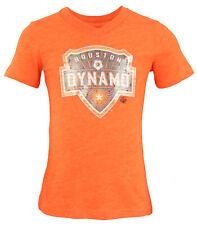 Adidas MLS Youth Girls Houston Dynamo Pump It Up Tee Shirt, Orange