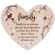 Family Sentiment- Floral Heart plaque with verse 272073