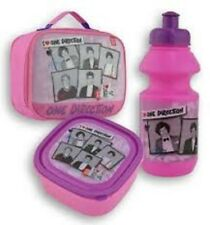 "ONE DIRECTION""Lunch Bag Kit Includes Sandwich Box And Water Bottle PINK/Purple"