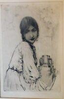 Paul Ashbrook, b.1867 Important Ohio artist, signed etching