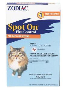 Zodiac Spot On Flea Control Cats & Kittens Free Shipping