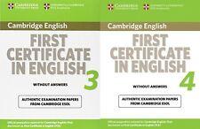 Cambridge inglés _ 2 Libros primera certificado inglés 3 & 4 __ nuevo ___ Reino Unido Freepost