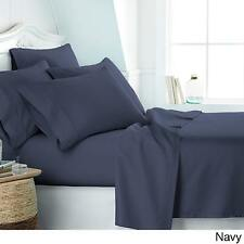 Home Collection Super Soft Luxury 6 Piece Bed Sheet Set - King Size - Navy Blue