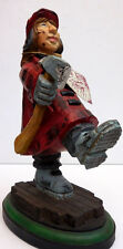 "DAVID FRYKMAN FIREFIGHTER FIGURINE ""FIRE LADY IN COAT WITH AXE"" #DF3912"
