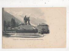 Chamonix Monument De Saussure & Mont Blanc [JJ 1280] Switzerland Postcard 975a