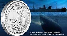 Britannia Gairsoppa 1/4 oz .999 Silver shipwreck recovered from 3 miles deep ww2