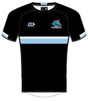 Cronulla Sharks NRL 2021 Warm Up Tee Black T-Shirt Sizes S-5XL!