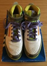 adidas GRACE #776041 Semi High Top Lilac Lime Orange Leather Sneakers US9 UK7.5