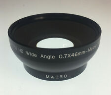 LENTE DI CONVERSIONE HD GRANDANGOLARE 0.7X + FILTRO MACRO CON ATTACCO VITE 46mm