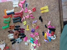 Barbie Ken Friends and other SHOES LOT SINGLE SHOE FLATS Sneakers Boots Heels
