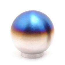 Titanium Tip Burnt Blue Round Ball Car Manual Shift Knob Shifter Lever Gear Knob