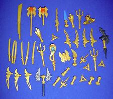 40 X GENUINE LEGO GOLD NINJAGO / NINJA SAMURAI WEAPONS