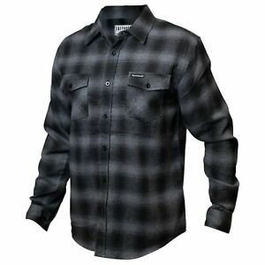 Fasthouse Saturday Night Special Flannel Mens Shirt - Grey Black All Sizes
