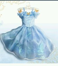 NEW LIMITED EDITION Disney AUTHENTIC CINDERELLA Live Action Blue Dress gown Sz 5