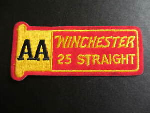 AA WINCHESTER 25 Straight Gun Ammo Advertising Patch 4 3/8""