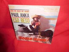 PAUL ANKA Eso beso 45rpm 7' + PS 1962 ITALY EX+ Bossa nova