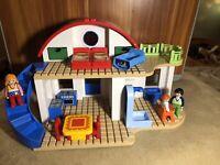 Playmobil 1 2 3 Suburban House 6784 Furniture Figure Family Set RARE EUC 626