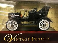 Vintage 1904 Buick Black Scale Diecast Models Steam Arko Train T White Wheel Car