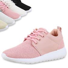 Damen Runners Sportschuhe Glitzer Metallic Laufschuhe Sneakers 814457 Top