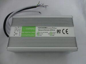 DC 12V LED Strip Waterproof IP67 LED Driver  200W