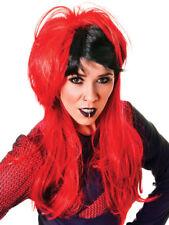 Ladies Rock Chick Emo Punk Costume Parrucca Party Accessorio 80 S 80 S NUOVO