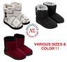 NEW WOMENS DEARFOAMS SWEATER KNIT 2 BUTTON BOOTIE SLIPPERS! IN/OUTDOOR VARIETY