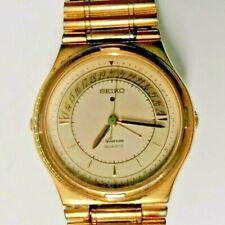 Reloj De Cuarzo Vintage Chapado en Oro Seiko