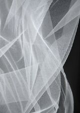 White Finest Tulle Net Bridal Wedding Crafts Favours Sewing Bouquet Flower Wrap