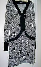Wayne Cooper  Vintage Black & White Dress - Ladies size 12