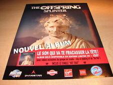 THE OFFSPRING - SPLINTER!!!!!!!!!!1!FRENCH PRESS ADVERT