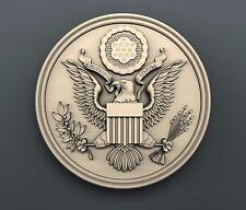 3d STL models for CNC, Artcam, Aspire, relief Coat of arms USA