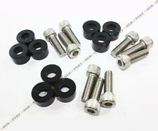 BLACK 9PC 8MM MANIFOLD CUP WASHER BOLT DRESS UP KIT FOR ACURA INTEGRA DC2 RSX
