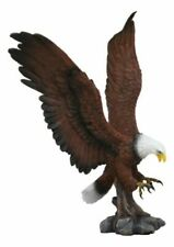 Large Rocky Mountain Grand Bald Eagle Descending on Prey Statue Decor Figurine