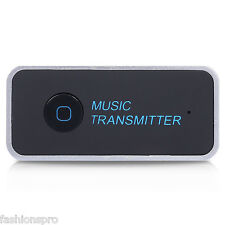 Wireless Bluetooth Transmitter Connected to 3.5mm Audio Devices Portable Stereo