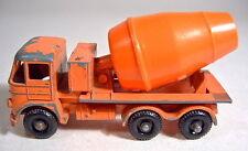 Matchbox RW 26B Foden Cement Mixer orange große schwarze Räder 10 mm